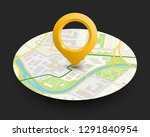 isometric round city map... | Shutterstock .eps vector #1291840954