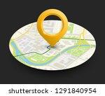 isometric round city map... | Shutterstock .eps vector #1291840954