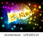 disco background with disco... | Shutterstock . vector #129185114