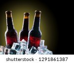cold bottles and fresh beer... | Shutterstock . vector #1291861387