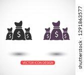 money bag set  icon