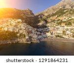 positano sunset view  amalfi... | Shutterstock . vector #1291864231