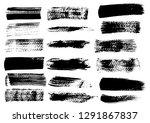 black ink grunge brush set... | Shutterstock .eps vector #1291867837