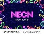 vector background framed with... | Shutterstock .eps vector #1291873444