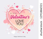 happy valentine's day heart... | Shutterstock .eps vector #1291886521