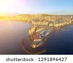 naples  italy. aerial cityscape ... | Shutterstock . vector #1291896427