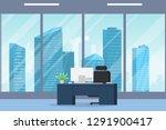office interior modern flat... | Shutterstock .eps vector #1291900417