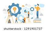 system building illustration....   Shutterstock . vector #1291901737