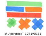 colored tape. | Shutterstock . vector #129190181