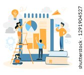 business people working and... | Shutterstock . vector #1291904527