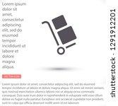 handcart vector icon   Shutterstock .eps vector #1291912201