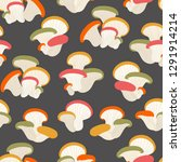 seamless pattern with mushrooms ... | Shutterstock .eps vector #1291914214