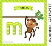letter m lowercase cute... | Shutterstock .eps vector #1291919554