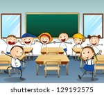 illustration of children... | Shutterstock .eps vector #129192575