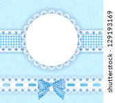 baby background with frame.... | Shutterstock .eps vector #129193169