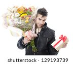 the young seducer.  birthday or ... | Shutterstock . vector #129193739