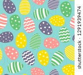 easter seamless pattern with... | Shutterstock .eps vector #1291939474
