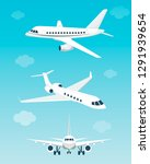 set of airplanes with different ...   Shutterstock .eps vector #1291939654
