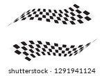 checkered racing flag isolated... | Shutterstock .eps vector #1291941124