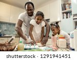 traditional morning. loving... | Shutterstock . vector #1291941451