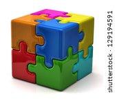 Stock photo  d puzzle cube 129194591