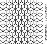 geometric pattern. cube... | Shutterstock . vector #1291950544