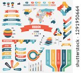 collection of infograph people...   Shutterstock . vector #1291950664