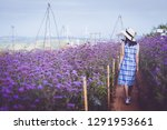young asian travel woman with... | Shutterstock . vector #1291953661