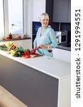 healthy nutrition. joyful adult ... | Shutterstock . vector #1291994551