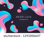 liquid neon lava lamp vector...