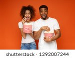 african american man and woman... | Shutterstock . vector #1292007244