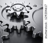 gear wheels on metal surface   Shutterstock . vector #129204617