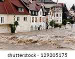 floods and flooding the streets ... | Shutterstock . vector #129205175