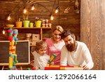kindergarten concept. little... | Shutterstock . vector #1292066164