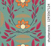 seamless pattern design with... | Shutterstock .eps vector #1292067124