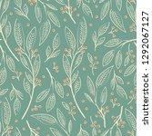 seamless pattern design with... | Shutterstock .eps vector #1292067127