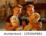 great companions. happy twins... | Shutterstock . vector #1292069881