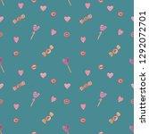 seamless pattern. valentine day ... | Shutterstock . vector #1292072701