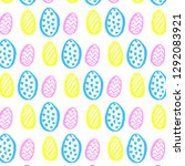 vector pattern with easter eggs ... | Shutterstock .eps vector #1292083921