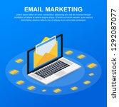 isometric vector for email... | Shutterstock .eps vector #1292087077