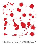 set of blots  splashes on white ... | Shutterstock .eps vector #1292088697