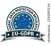 eu gdpr label illustration | Shutterstock .eps vector #1292092114