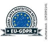eu gdpr label illustration | Shutterstock .eps vector #1292092141