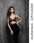 sensual woman wearing a sexy... | Shutterstock . vector #1292116204