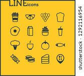 illustration of 16 meal icons...   Shutterstock . vector #1292116954