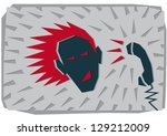 on the phone | Shutterstock .eps vector #129212009
