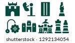 castle icon set. 8 filled... | Shutterstock .eps vector #1292134054