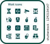 wait icon set. 16 filled wait... | Shutterstock .eps vector #1292134147