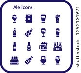 ale icon set. 16 filled ale... | Shutterstock .eps vector #1292134921