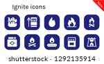 ignite icon set. 10 filled... | Shutterstock .eps vector #1292135914